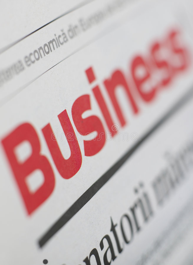 Business series. Newspaper with business inscription on it royalty free stock images
