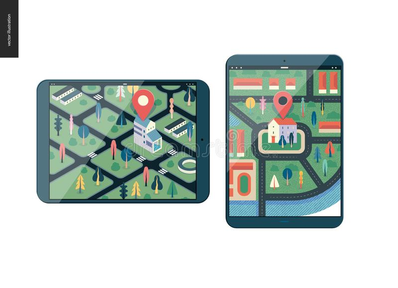 Business series - map vector illustration