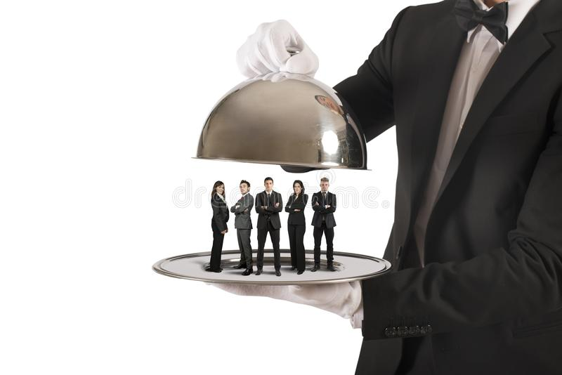 Business service and First Class team stock photos