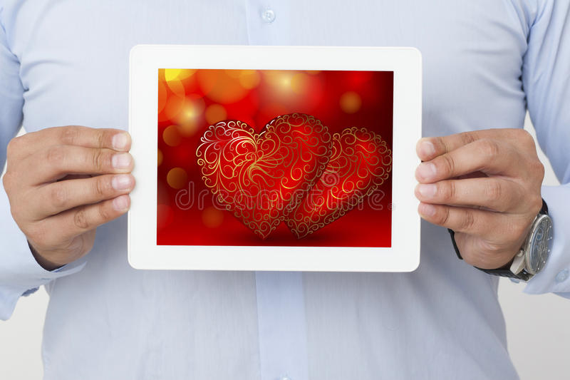 Business service and Valentine`s Day royalty free stock images