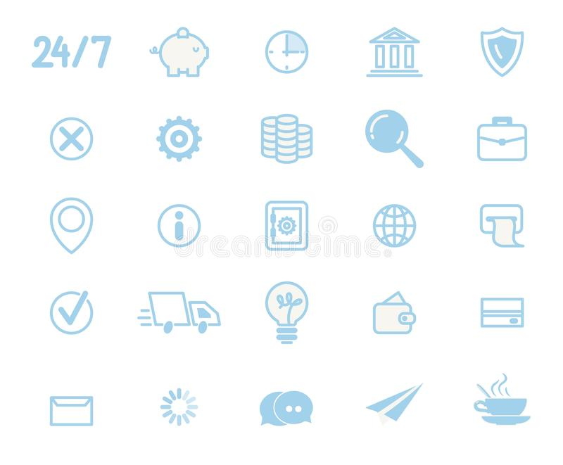 Business Services Line Art Vector Collection stock illustratie