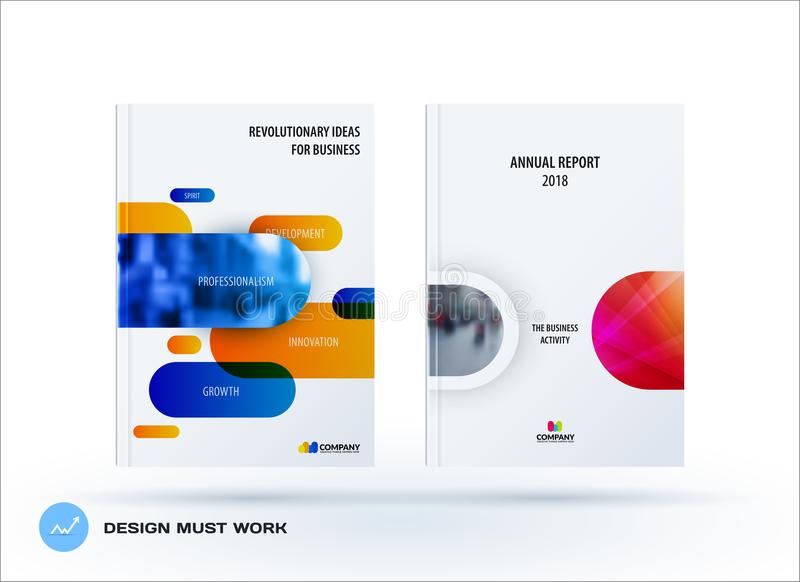 Business set of design brochure, abstract annual report, horizontal cover flyer vector illustration