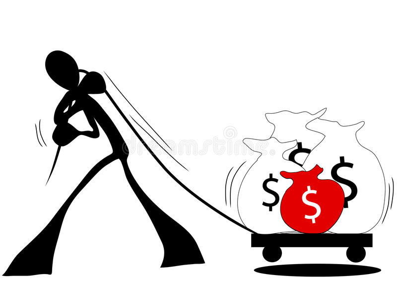 Business shadow man royalty free illustration