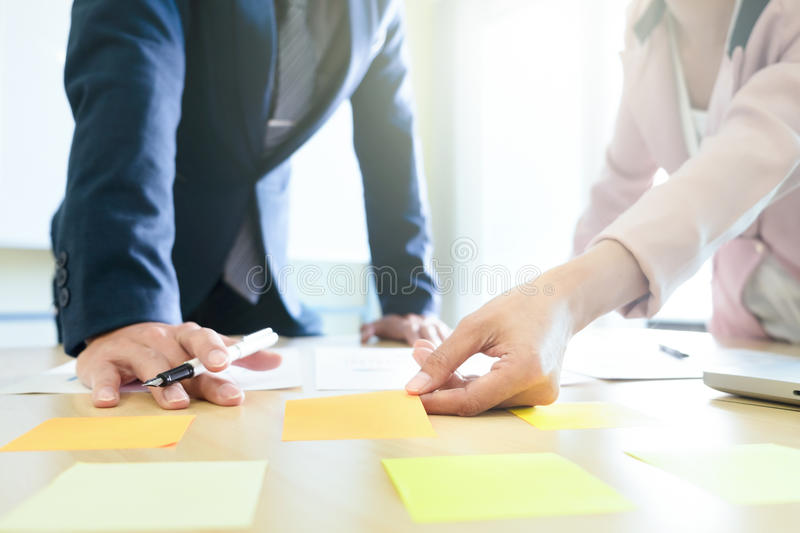 Business share and planing strategy brainstroming concept royalty free stock image