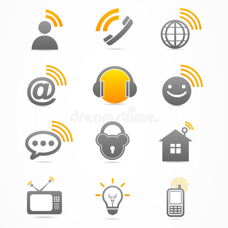 Business signal collection icon