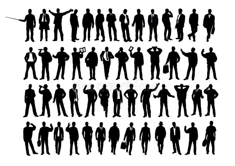Business silhouette stock illustration