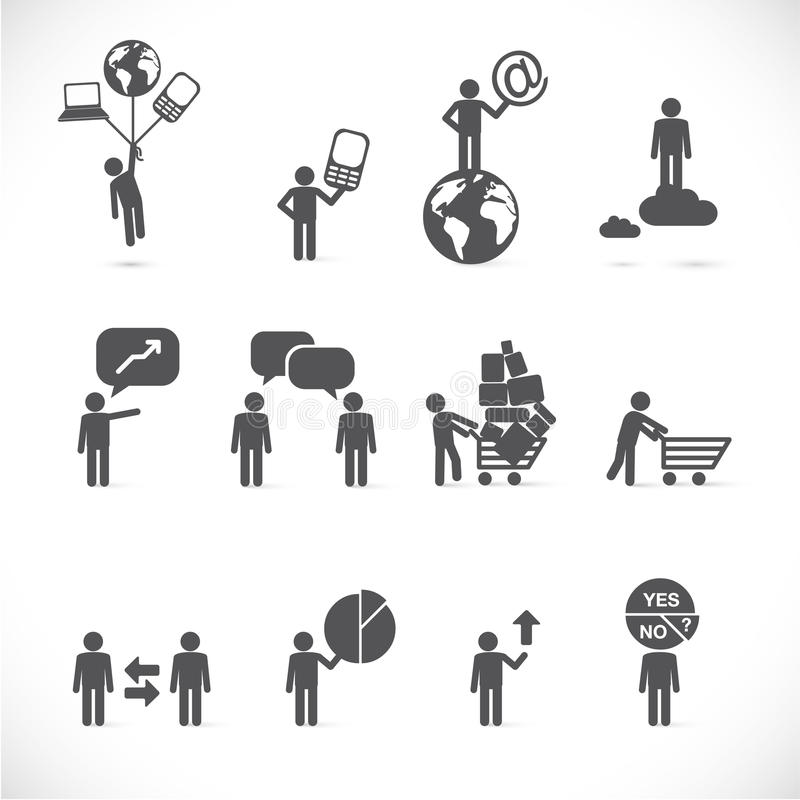 Business situations - illustration royalty free illustration