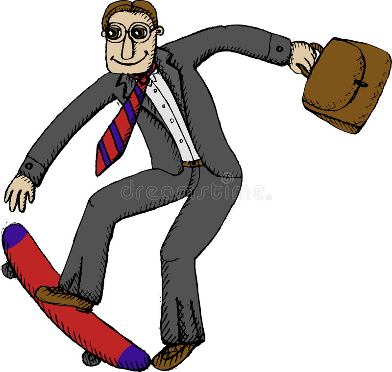 Business Skater Stock Photography