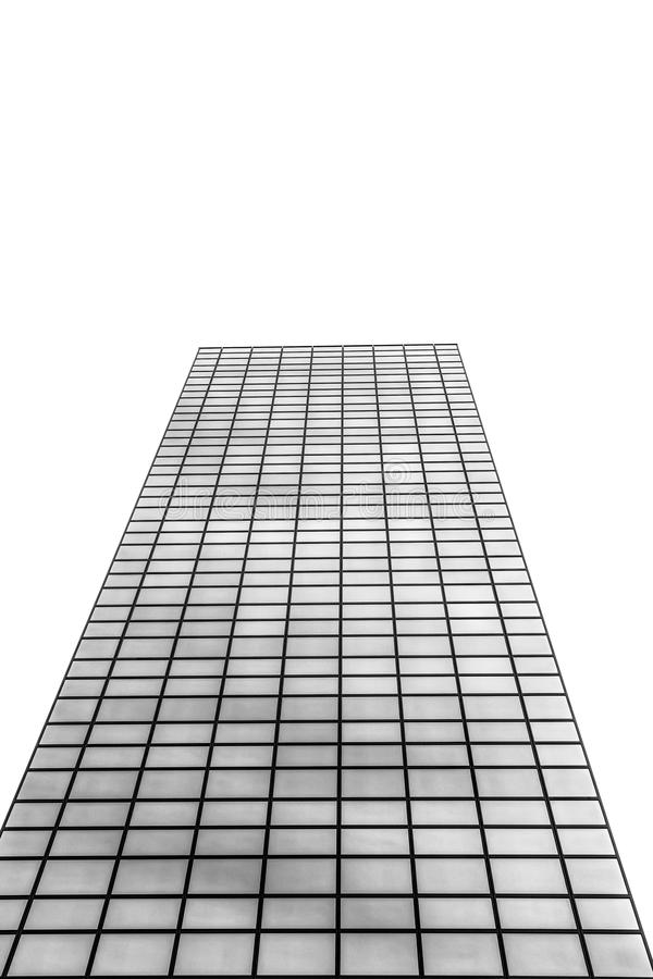 Business skyscraper isolated on white. Concept for real estate and corporate construction royalty free stock photo