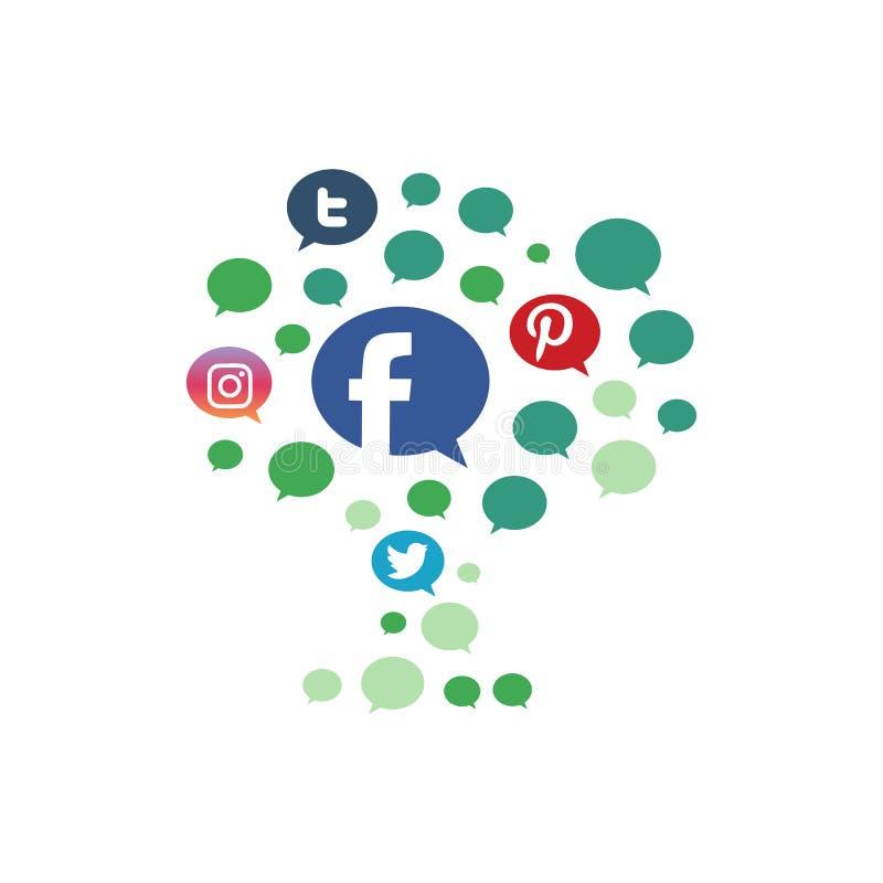 Business Social media growth icon logo design vector concept illustration. Network, digital, marketing, background, isometric, communication, connect, share vector illustration
