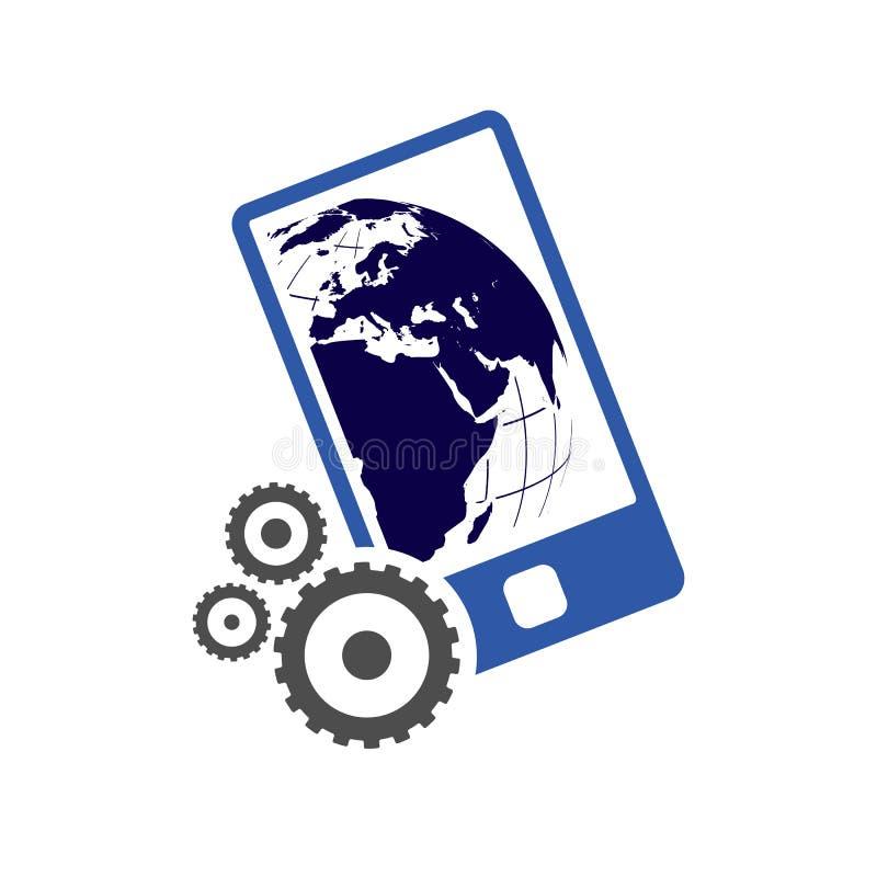 Business Social media growth icon logo design vector concept illustration. Network, digital, marketing, background, isometric, communication, connect, share stock illustration
