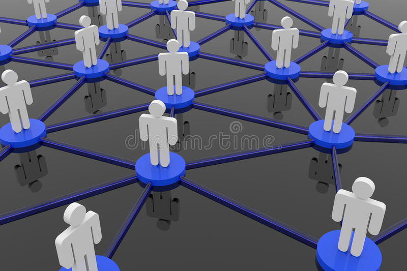 Business or social network. 3D rendering image of business or social network vector illustration