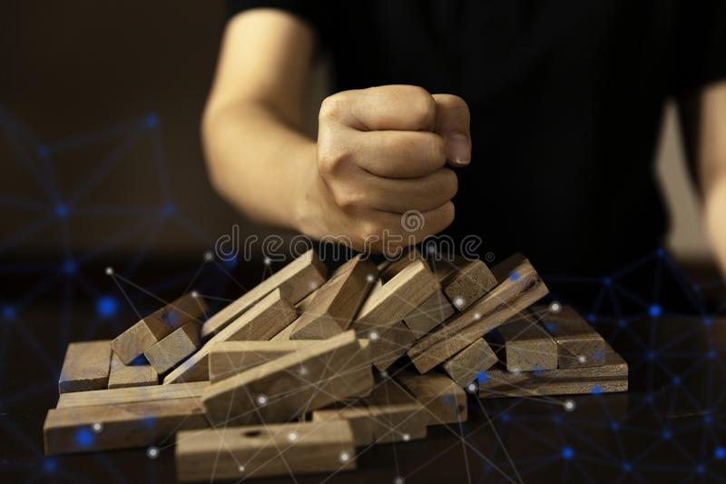 Business social network failuare ideas concept royalty free stock photo