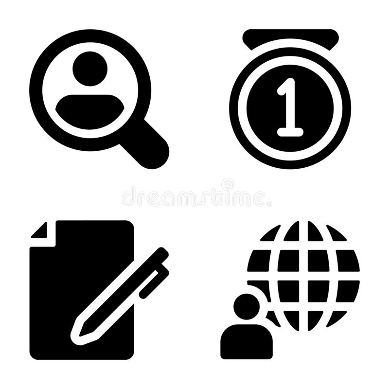 Business Solid Icons stock illustration