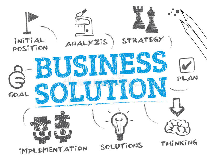 Business Solution royalty free illustration