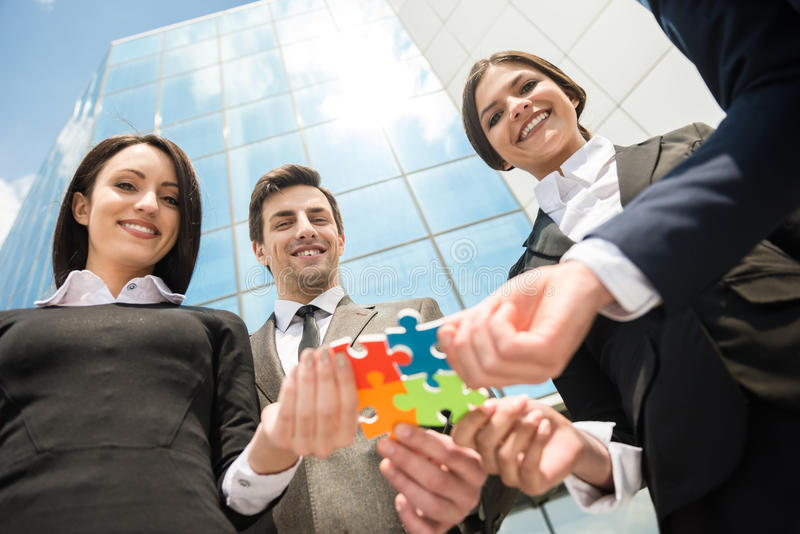 Business solution royalty free stock photos