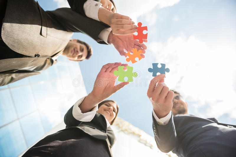Business solution stock image