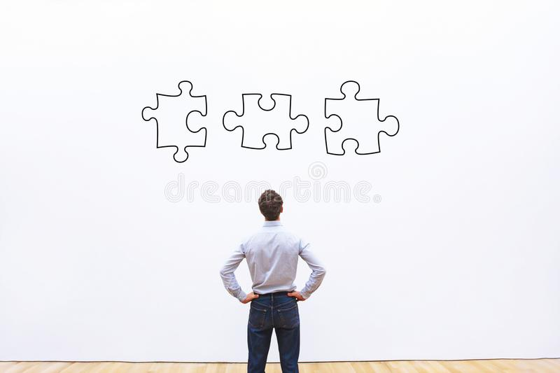 Business solution concept, puzzle royalty free stock photography