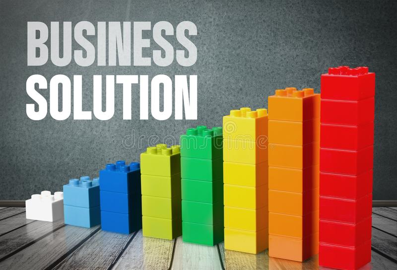 Business solution. Result graph index isolated brick leisure stock photo