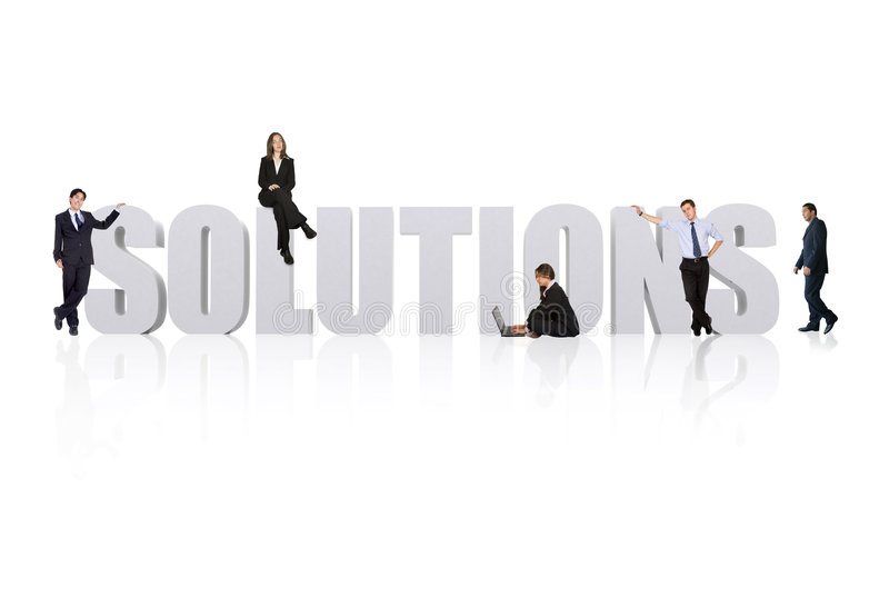 Download Business solutions stock image. Image of isolated, answer - 1953515