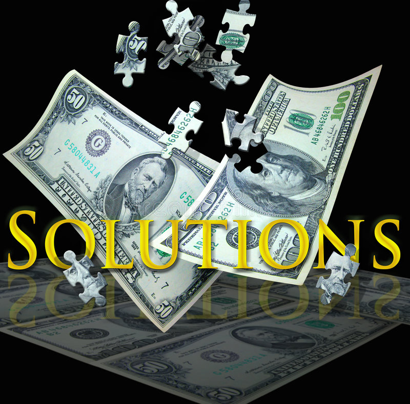 Business solutions royalty free stock images