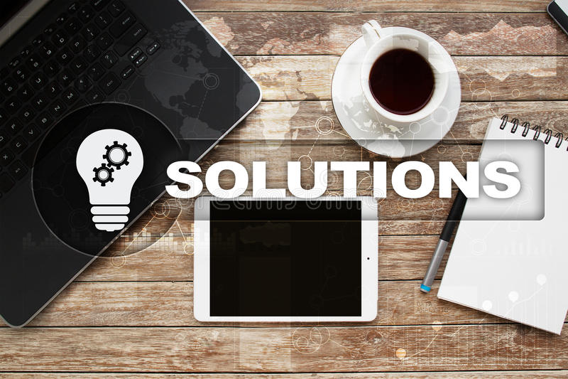 Business solutions concept. stock photo