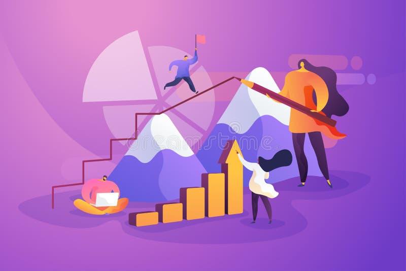 Business solutions, leadership flat vector illustration royalty free illustration