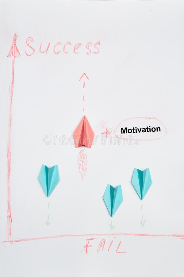 Business solutions, success and strategy. Challenge, improvment and progress concept. The leader of flying to success. Business planning. Strategy. Challenge stock images