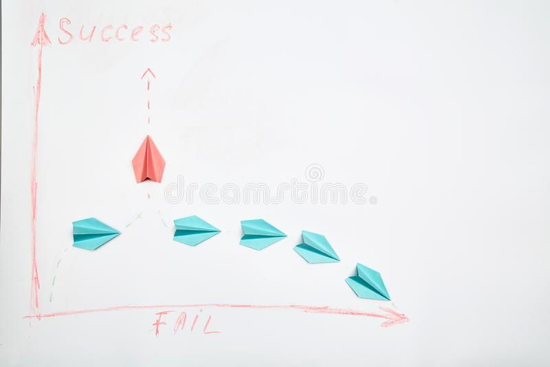 Business solutions, success and strategy. Challenge, improvment and progress concept. The leader of the group. Business solutions, success and strategy royalty free stock image
