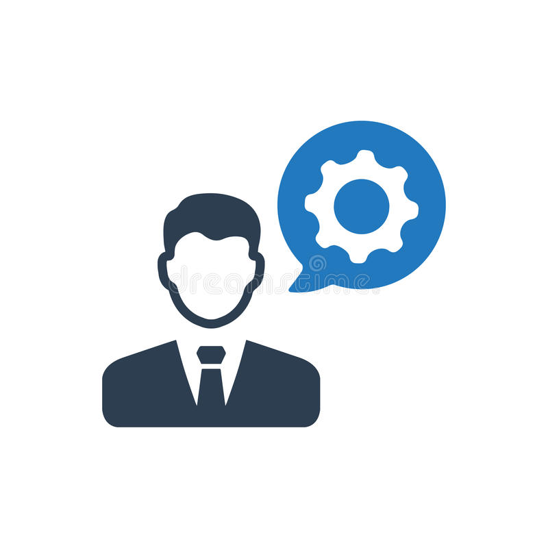 Business specialist Icon royalty free illustration