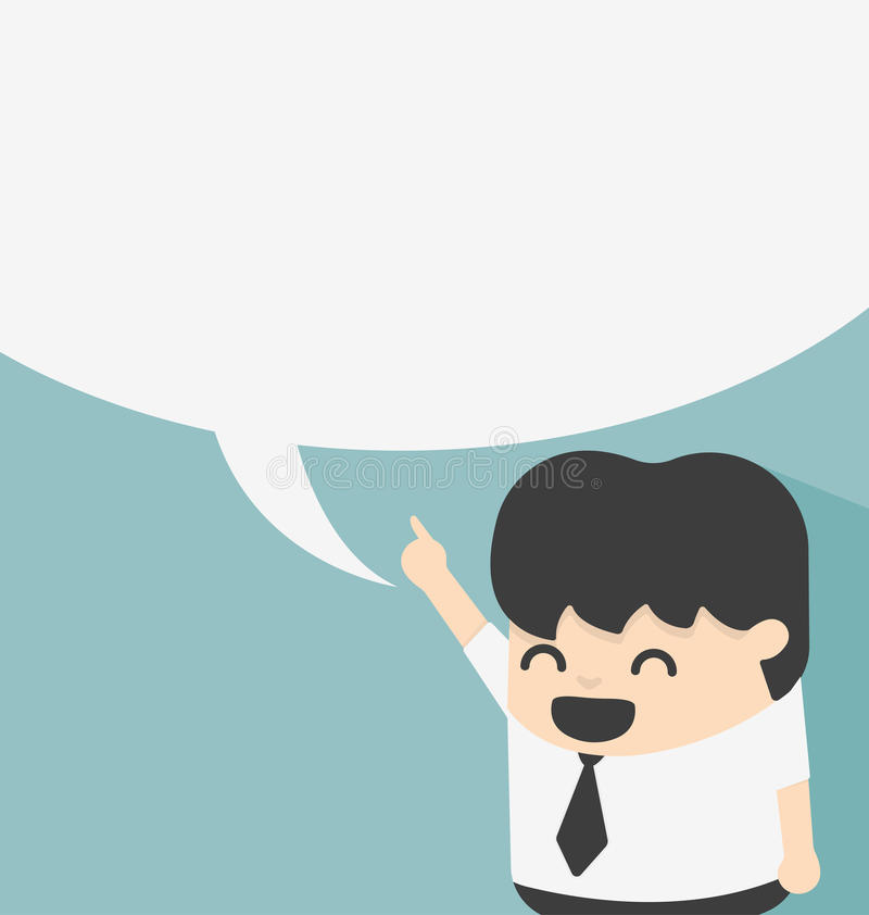 Business with speech bubbles. Illustration Business with speech bubbles vector illustration