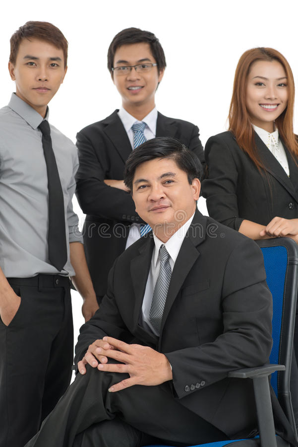 Download Team Of Happy Businesspeople Stock Image - Image: 30095597