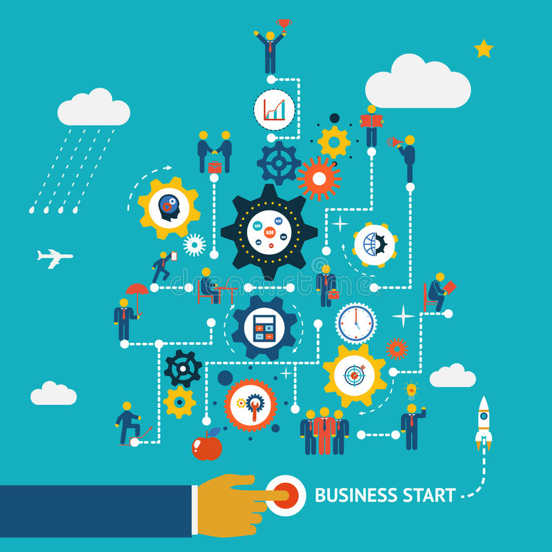 Business start infographics royalty free illustration