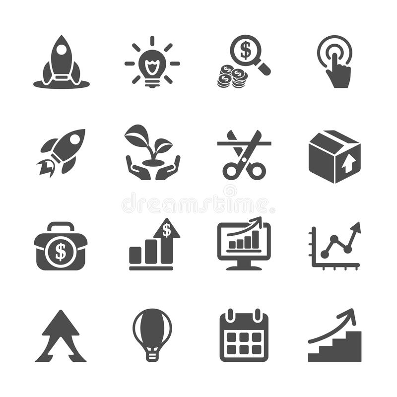 Free Business Start Up Icon Set, Vector Eps10 Royalty Free Stock Images - 50544589