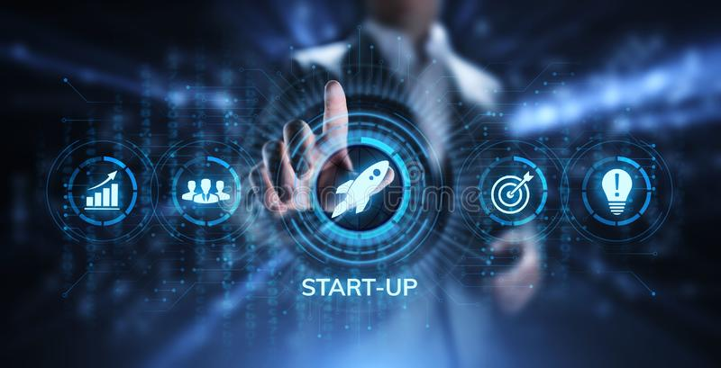 Business start up Venture investment business and development concept. royalty free stock images