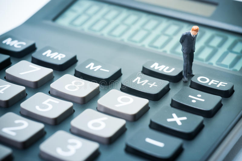 Business startup calculating concept. stock photos