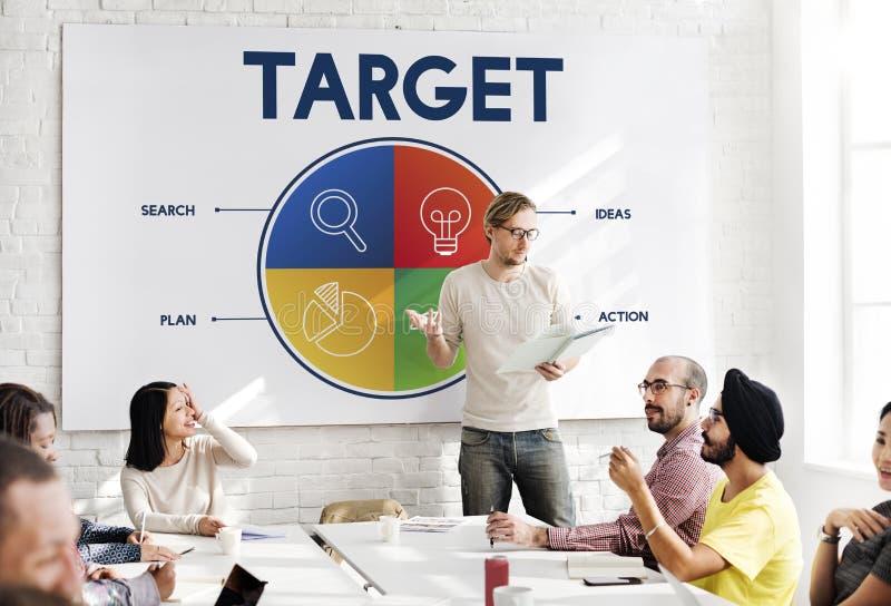 Business Startup Entrepreneur Strategy Target Concept stock images