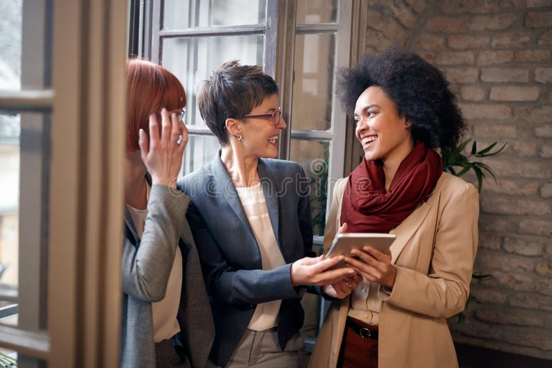 Business startup friendship teamwork concept. Creative people working. stock photos