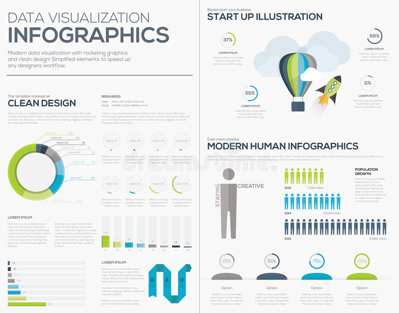 Business startup infographic vector illustration collection set vector illustration