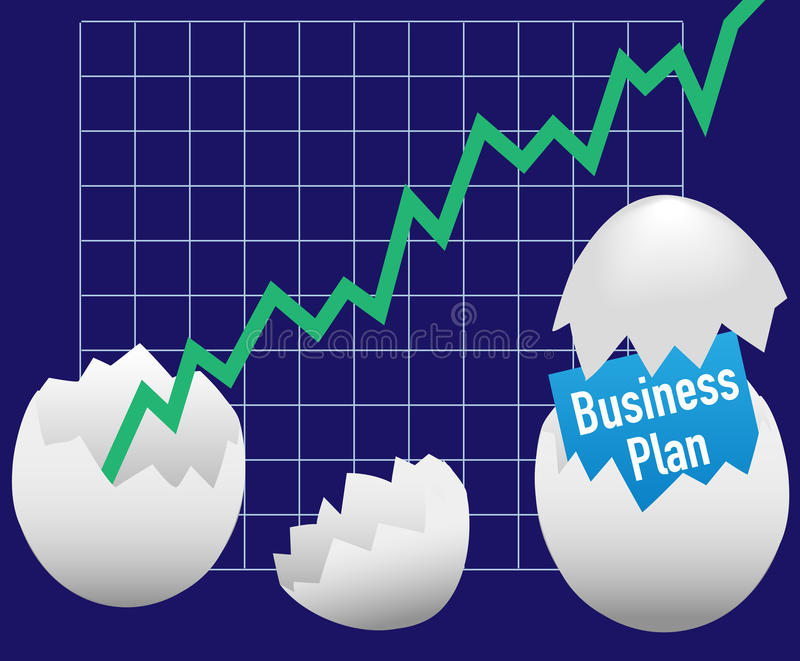 Business startup plan hatch egg growth stock illustration
