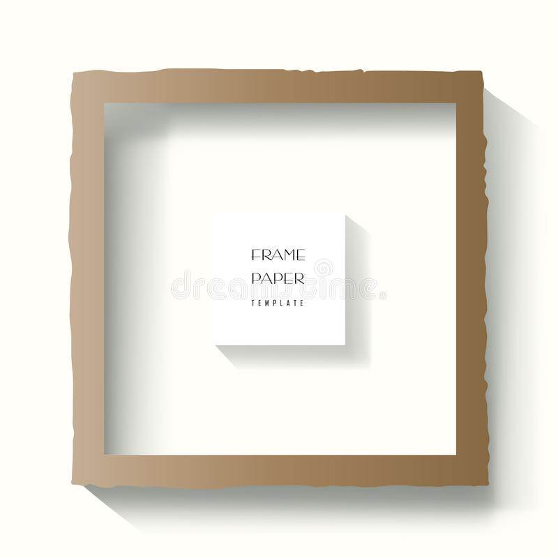 Torn paper edges frame. Business Stationery Frame vector template set. Torn paper edges Frame Design, business brochure layout, cover modern design, business stock illustration