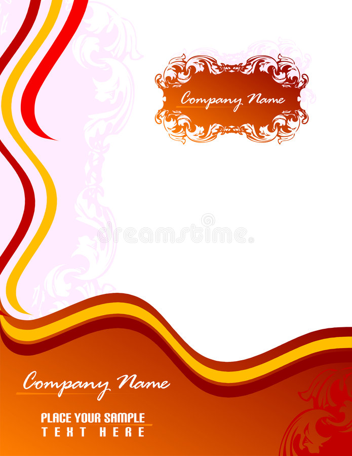 Business stationery set 8.5x11. royalty free illustration