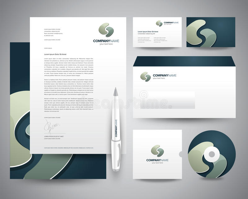 Business Stationery Template Turquoise. A complete set of business stationery template with ready made logo design and corporate identity vector illustration
