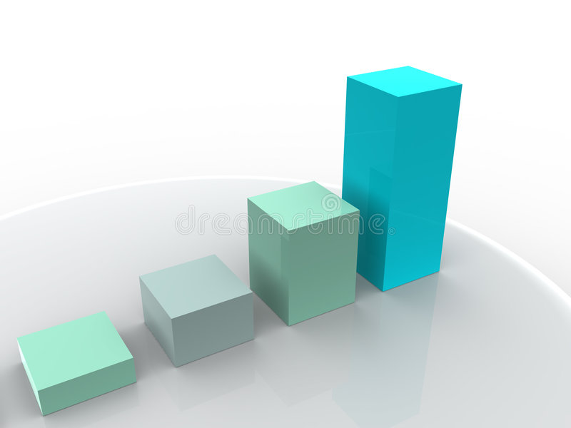 Business statistics royalty free illustration