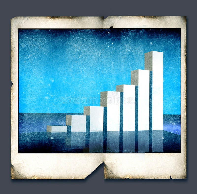 Business statistics royalty free illustration