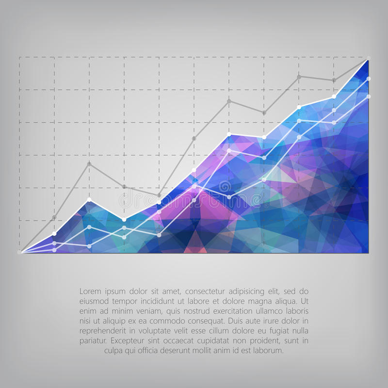Business statistics chart showing various graphs. Business statistics chart showing various visualization graphs royalty free illustration