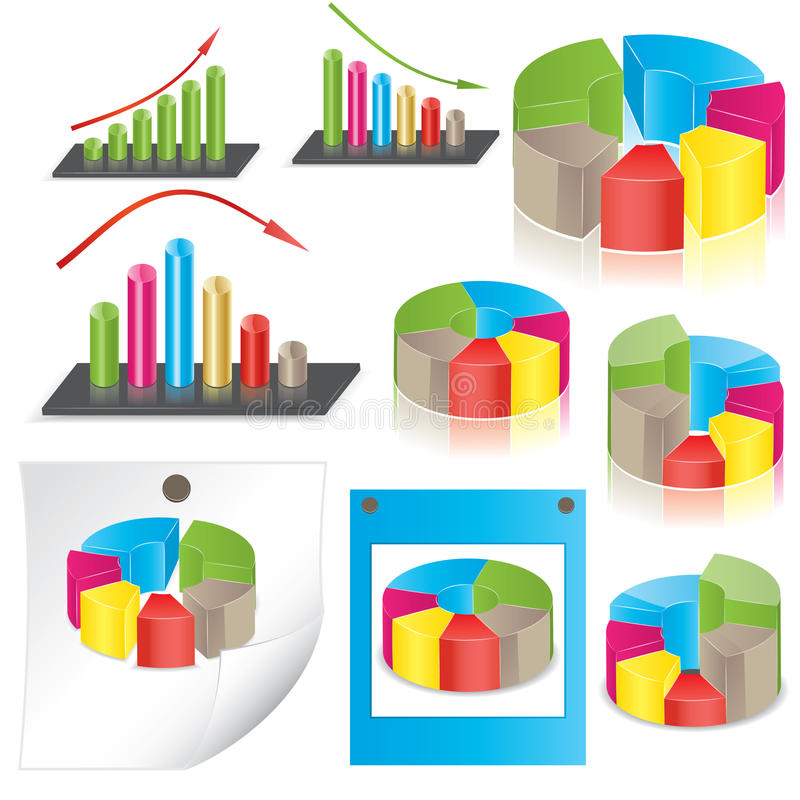 Business statistics. vector illustration. Set of business statistics. vector illustration stock illustration