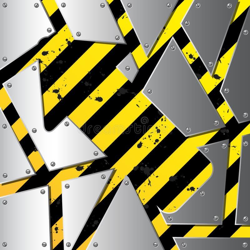 Business steel plate background vector illustration