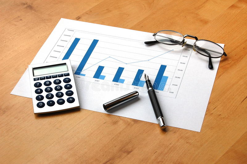 Download Business still life stock photo. Image of chart, accounting - 9443072