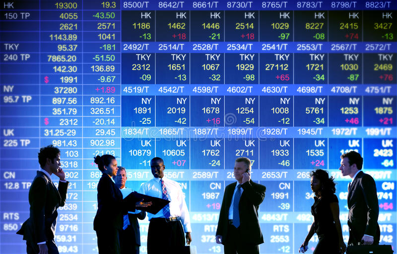 Business Stock Exchange Trading Concept stock photos